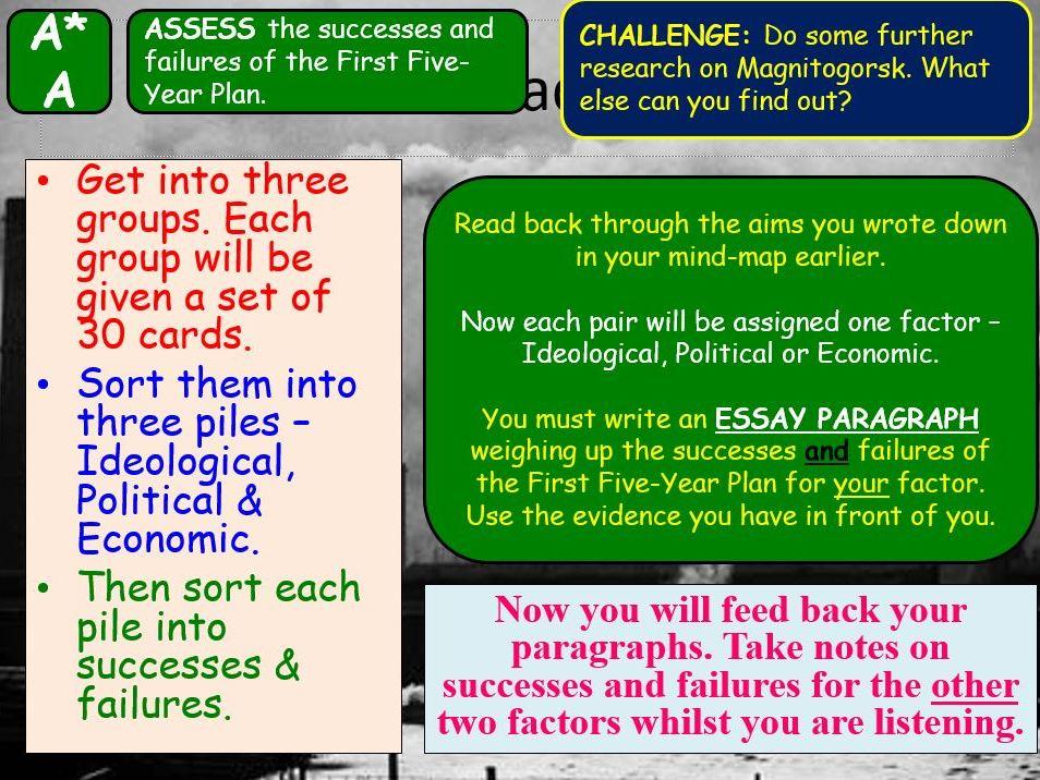 AQA A-Level Tsarist & Communist Russia Lesson 67 (First Five-Year Plan)