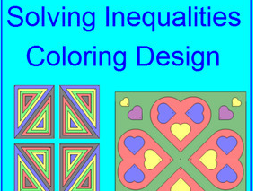 SOLVING ONE-STEP INEQUALITIES COLORING ACTIVITY