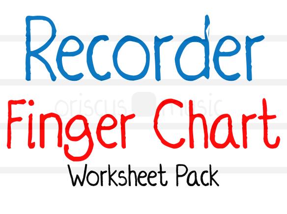 Recorder Finger Chart Worksheet Pack