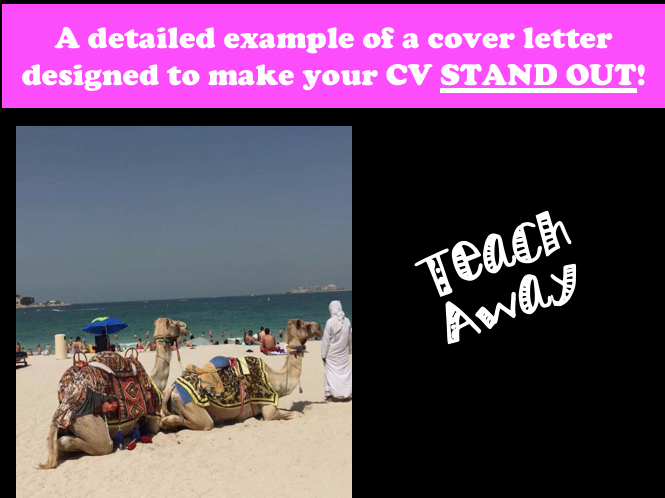 A sample cover letter