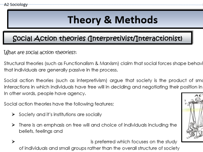 AQA Sociology - Year 2 - Theory & Methods - Social action theories