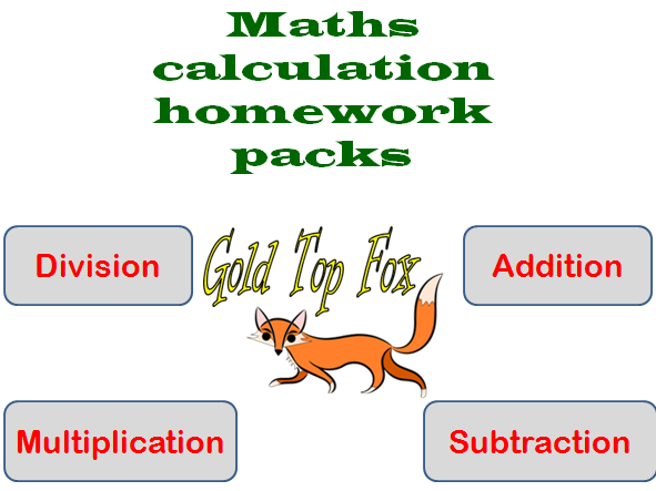 Maths calculation methods worksheets for all  number operations (primary)