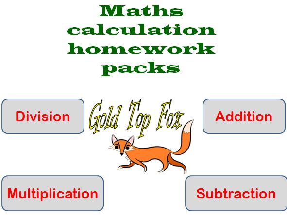 Maths calculation methods worksheet pack (primary)