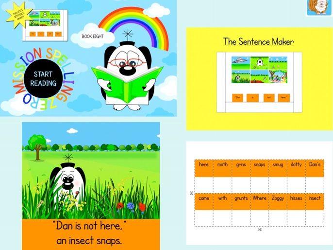 Make Sentences With The Sentence Maker: Book 8 (Zoggy Zero Series)