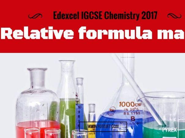 Edexcel IGCSE Chemistry Relative Formula Mass 1.26