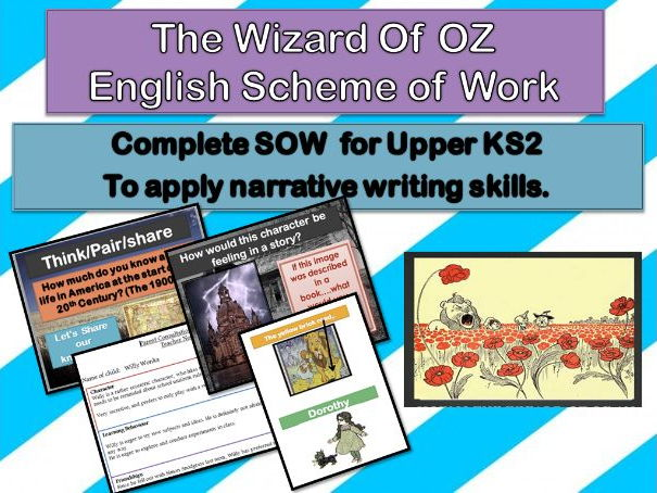 The Wizard of OZ   Full Narrative Scheme of work - 12 days of planning, presentation and resources.
