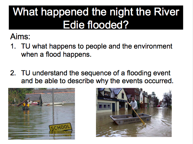 Lesson 9: Living Graph - What happened the night the River Edie flooded?  (OFSTED Lesson)