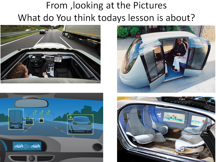 Driverless Cars Speaking and Listening Task