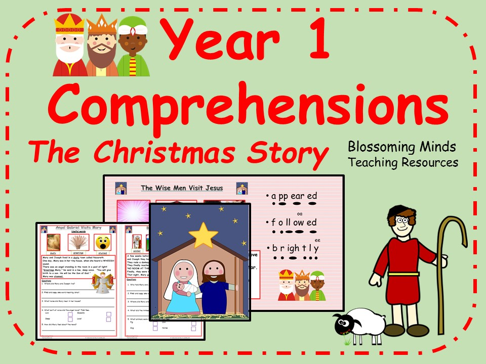 Year 1 Christmas story comprehension