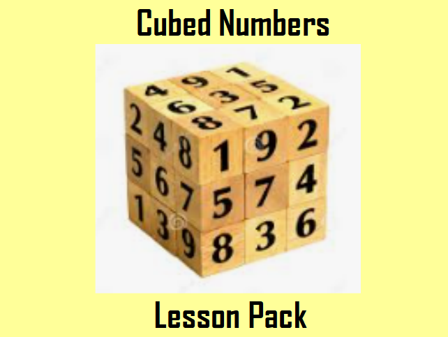 Cubed Numbers Lesson Pack with differentiated questions