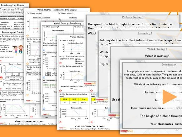 Year 4 Introducing Line Graphs Summer Block 4 Step 3 Lesson Pack