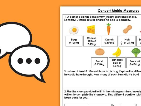 Year 6 Convert Metric Measures Spring Block 4 Maths Discussion Problems