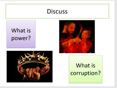 Power and Corruption in Macbeth (Outstanding lesson)