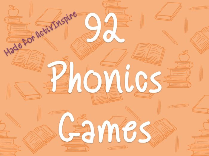92 Phonics Interactive Whiteboard Games for all phases (ActivInspire flipchart)