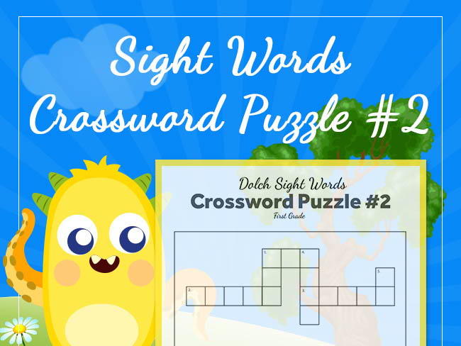 1st Grade - Dolch Sight Words Crossword Puzzle (Set 2)