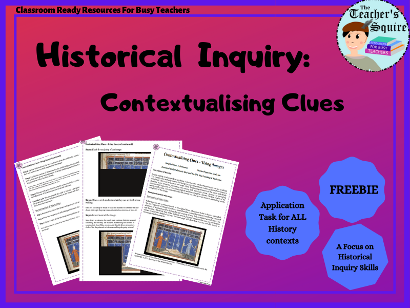 Historical Inquiry: Contextualising Clues Activity