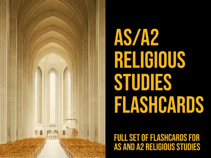 New AS/A2 Religious Studies flashcards - All Units + Christianity Section