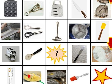 Food Technology Fun: Utensils and equipment - board games, game cards, PowerPoint, word list
