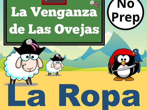 La Venganza de Las Ovejas. PowerPoint Games to Learn Spanish Vocabulary for LA ROPA.   Juegos