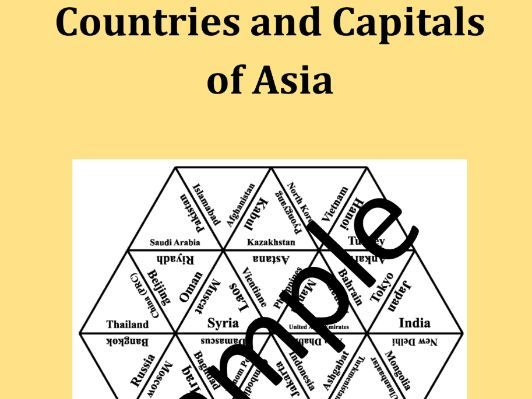 Countries and Capitals of Asia – puzzle