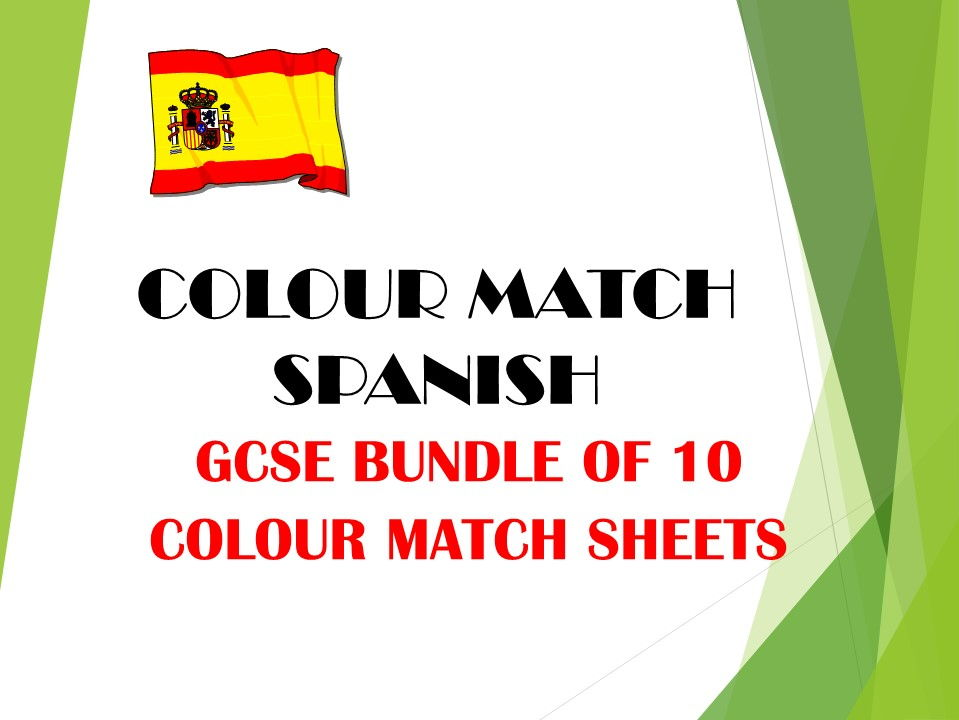 GCSE SPANISH colour match bundle 1