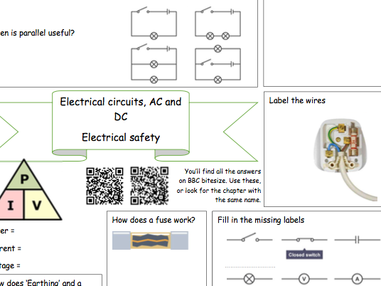 Bitesize Physics Revision worksheets (Electricity, energy, waves and motion)