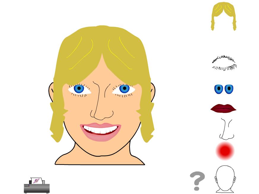 Describe a Face - interactive resource