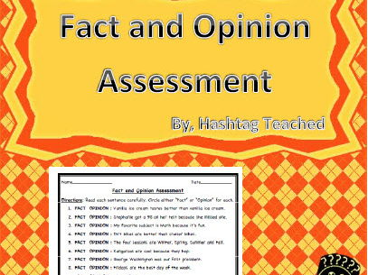 Fact and Opinion Assessment Worksheet