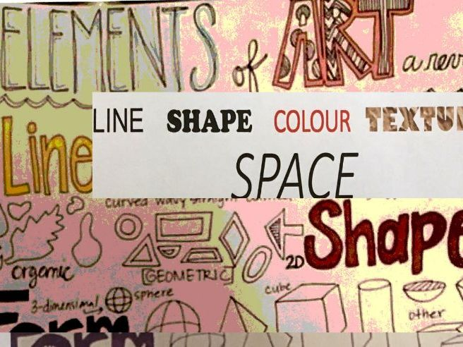 Elements of Art Foldout booklet homework tasks: 6 tasks and front cover year 7