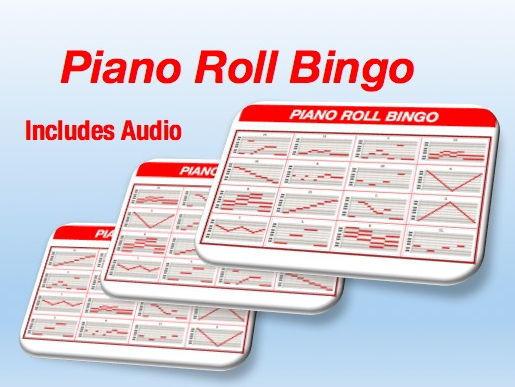 Piano Roll Bingo Cards With Audio
