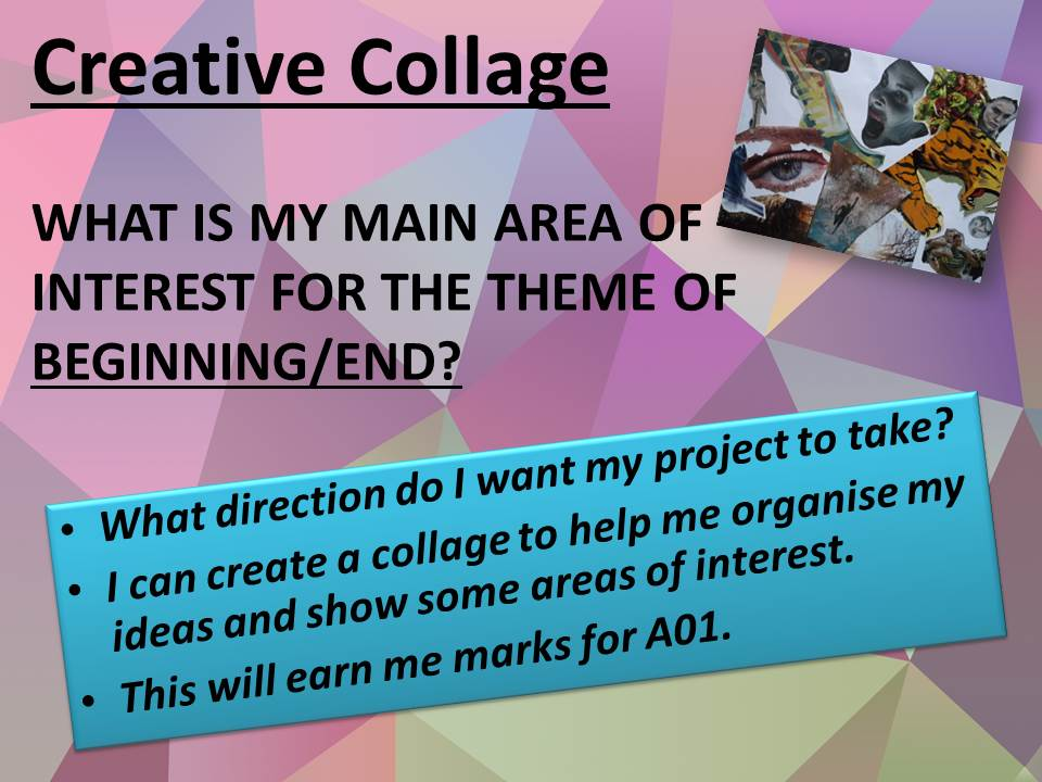 Creative Collage Activity GCSE 2017
