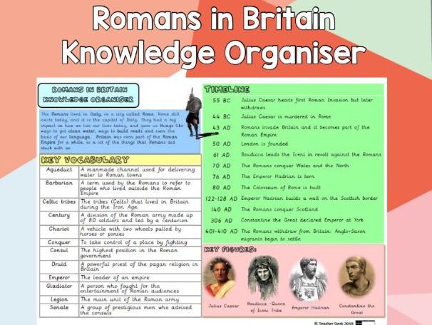 Romans in Britain  Knowledge Organiser
