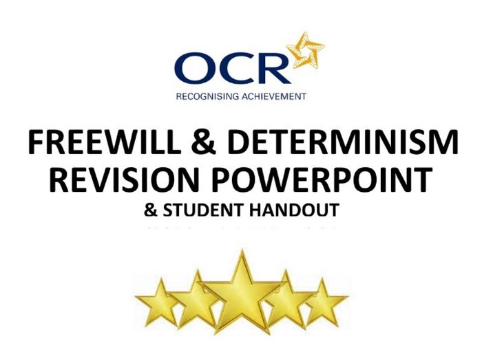OCR Ethics Free Will and Determinism PowerPoint and Notes