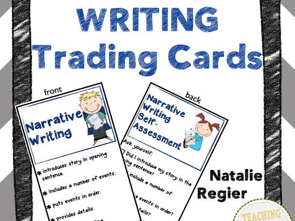Writing Trading Cards: Mini Anchor Charts and Self-Assessment Questions
