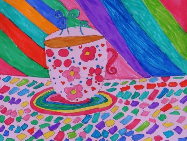 Felt Pen Tea Cups