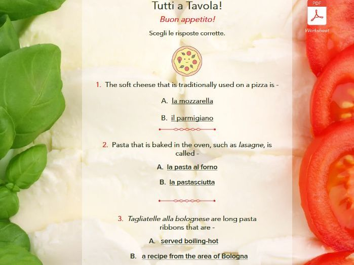 Italian Food Quiz