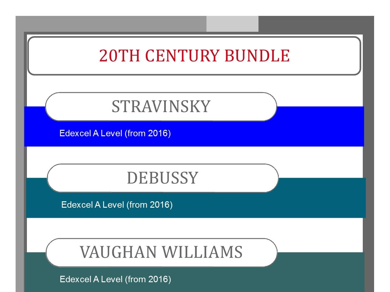 20th Century Bundle for Edexcel A Level Music (from 2016)