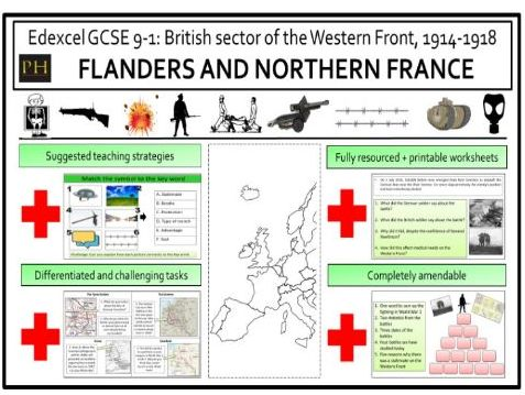 British sector of the Western Front - Flanders and Northern France