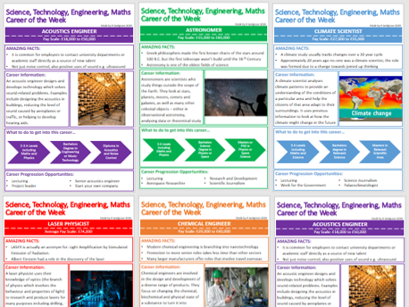 STEM/Science Careers of the Week Information Sheets