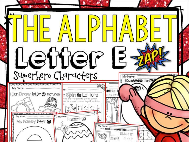 PHONICS: THE ALPHABET: LETTER E