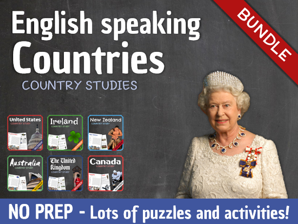 Country Studies Bundle (English Speaking Countries)