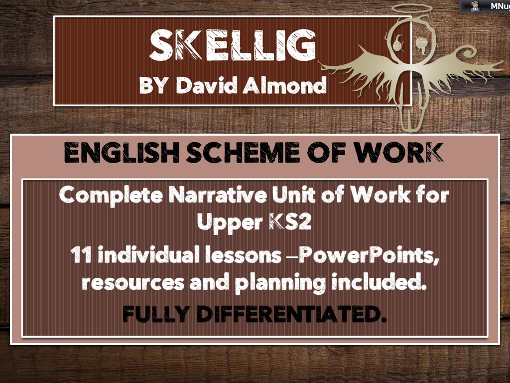 SKELLIG - Complete Scheme of Work (11 lessons) for UPPER KS2