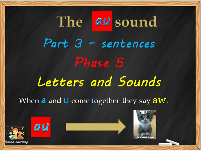 PowerPoints to teach the AU sound