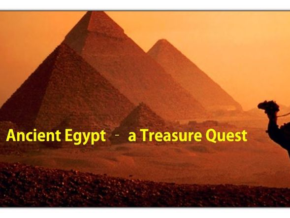 Ancient Egypt Treasure Quest - a Complete Unit Bundle