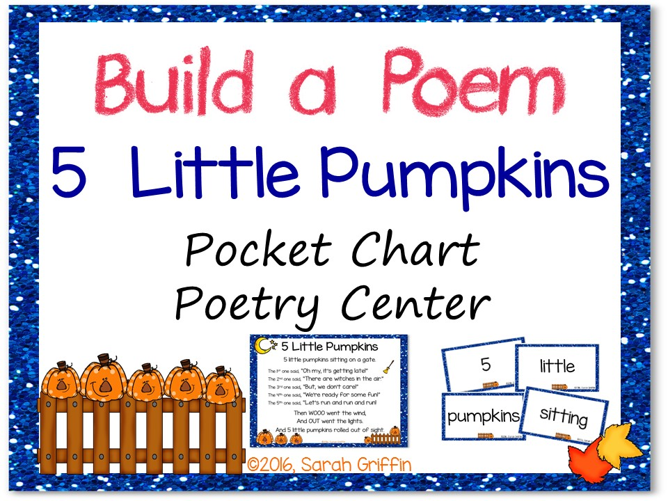 Build a Poem: 5 Little Pumpkins - Pocket Chart Center