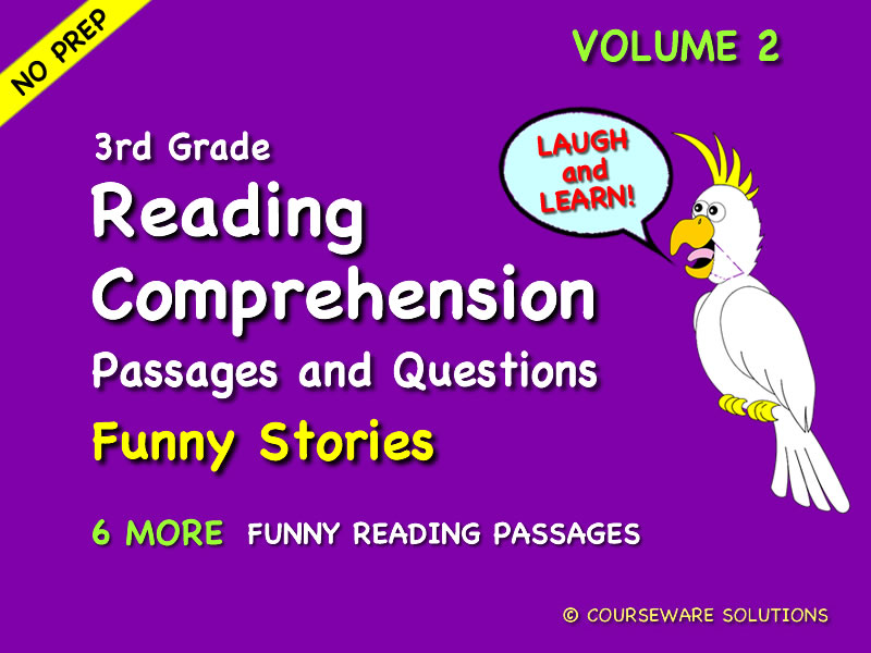 3rd Gr Reading Comp -Funny Stories Vol 2