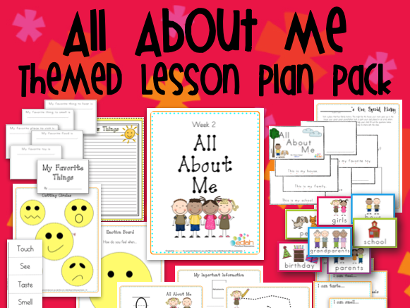 All About Me Themed Unit-Preschool Lesson Plans and Activities (one week)