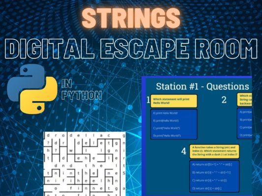Python Digital Escape Room - Strings