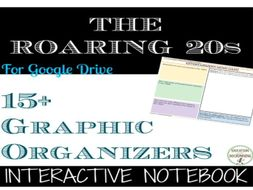 The Roaring 1920s Digital Interactive Notebook Pages