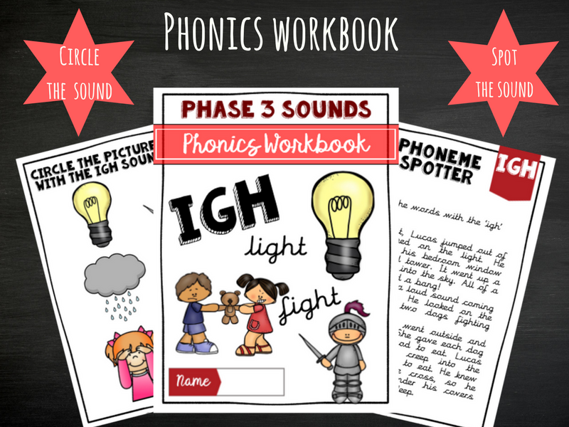 'Igh' Phonics Workbook